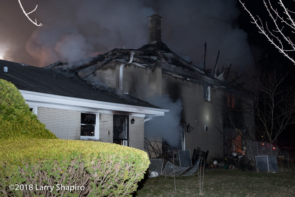 aftermath of fatal house fire