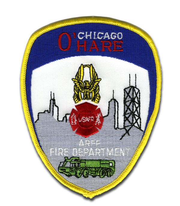 Chicago FD ARFF Rescue patch at O'Hare Airport