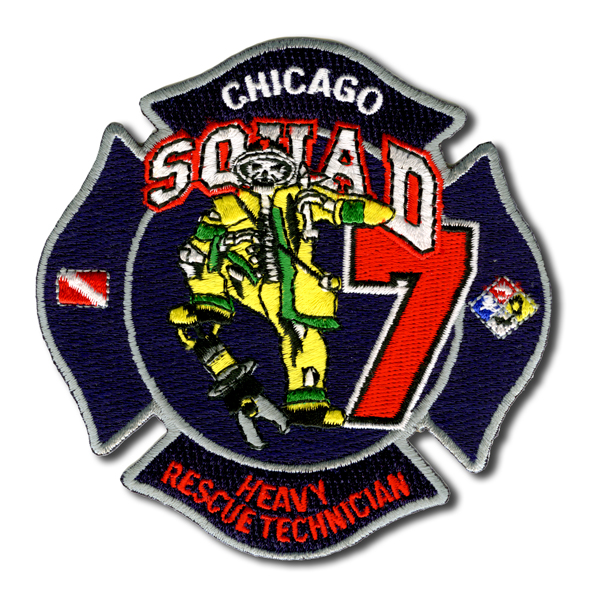 Chicago FD Squad 7 patch