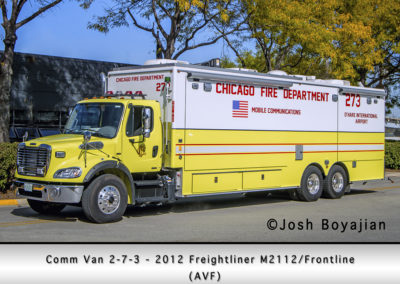 Chicago FD Comm Van 2-7-3 at O'Hare Airport