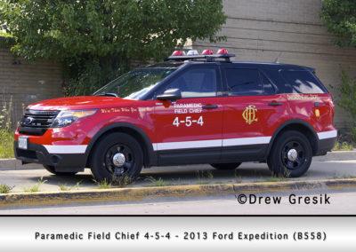 Chicago FD Paramedic Field Chief 4-5-4