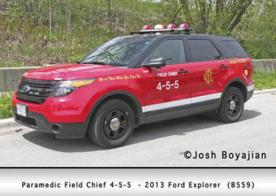 Chicago FD Paramedic Field Chief 4-5-5