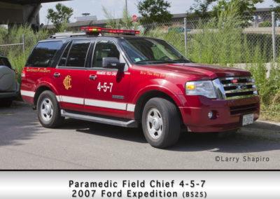 Chicago FD Paramedic Field Chief 4-5-7
