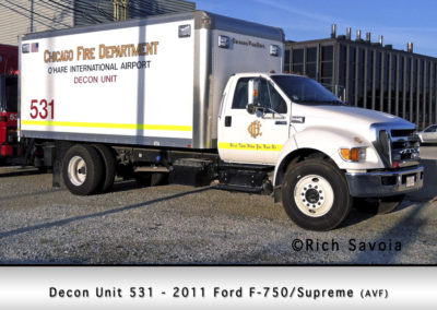 Chicago FD Decon Unit 5-3-1 at O'Hare Airport
