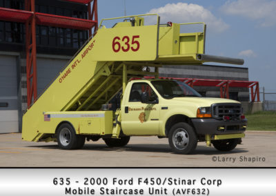 Chicago FD Mobile Staircase Unit 6-3-5 at O'Hare Airport
