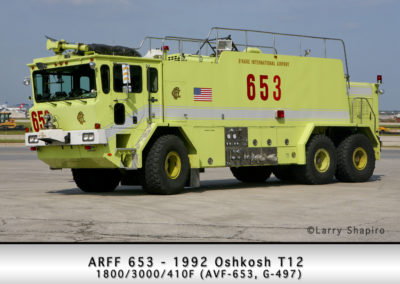 Chicago FD ARFF 6-5-3 at O'Hare Airport