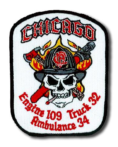 Chicago FD Engine 109 Truck 32 Ambulance 34 patch