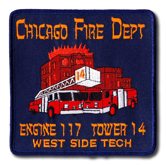 Chicago FD Engine 117 and Tower 14's patch