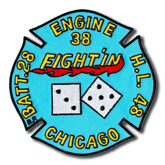 Chicago FD Engine 38 Truck 48 Battalion 28 patch
