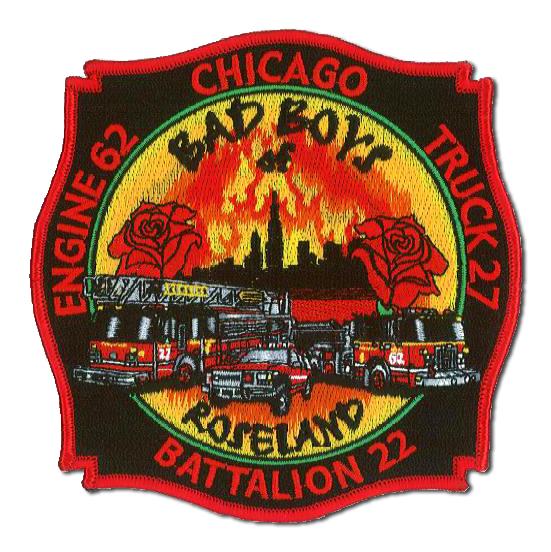 Chicago FD Engine 62 Truck 27 Battalion 22's patch