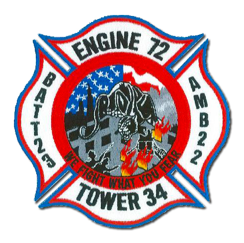 Chicago FD Engine 72 Tower 34 Battalion 23 Ambulance 22's patch