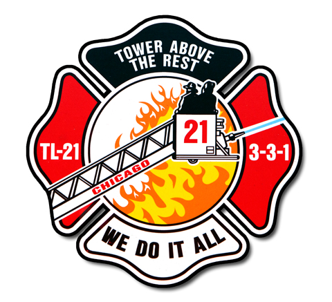 Chicago FD Tower 21's decal