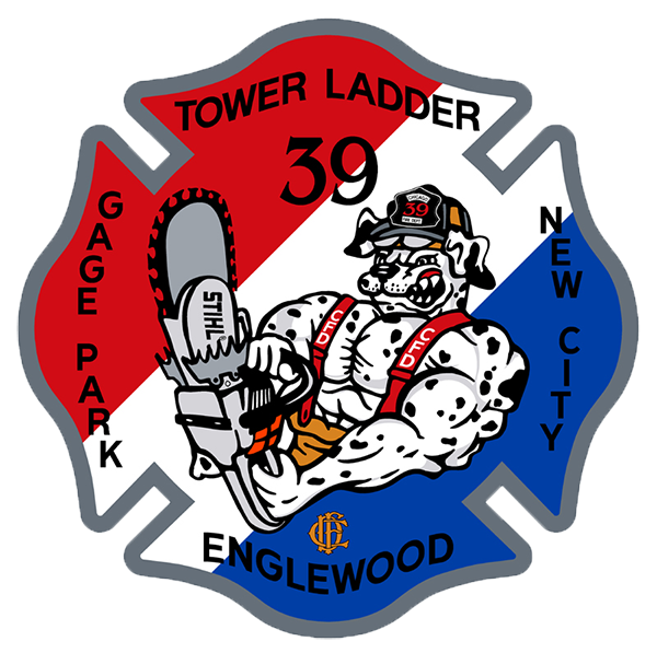 Chicago FD Tower Ladder 39 decal