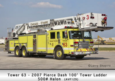 Chicago FD Tower 63 at O'Hare Airport