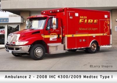 Niles Fire Department Ambulance 2R