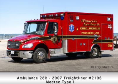Winnetka Fire Department Ambulance 28R