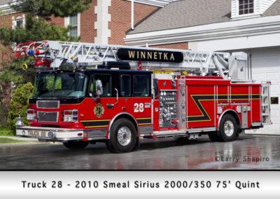 Winnetka Fire Department Truck 28