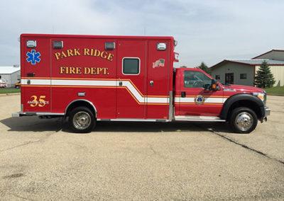Park Ridge Fire Department Ambulance 35 - 2015 Ford F450/Horton Type I