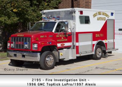 Antioch Fire Department 2195 Fire Investigation Unit