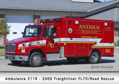 Antioch Fire Department Ambulance 211R