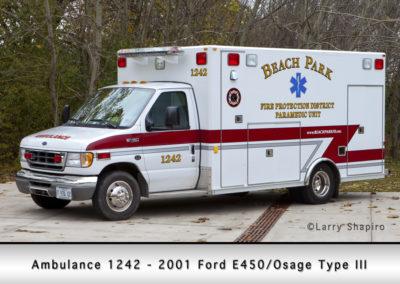 Beach Park Fire Department Ambulance 1242