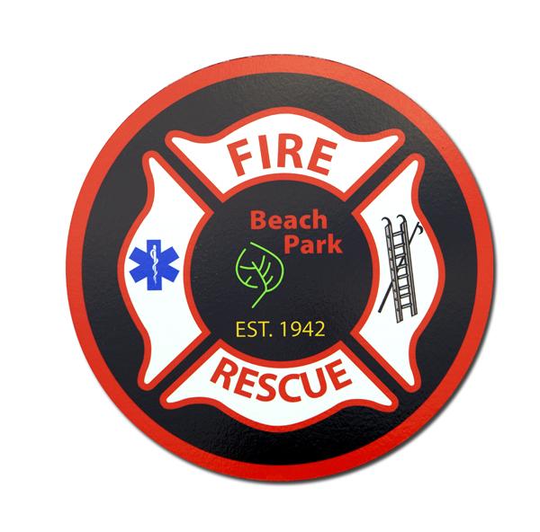 Beach Park Fire Department decal