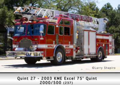 Buffalo Grove Fire Department Quint 27