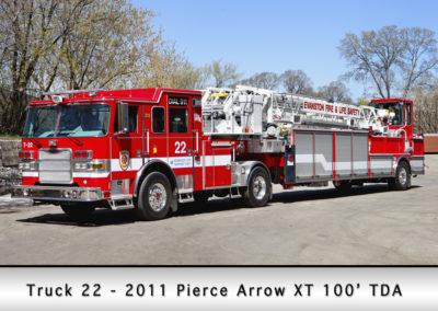 Evanston Fire Department Truck 22