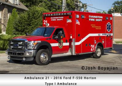 Evanston Fire Department Ambulance 21