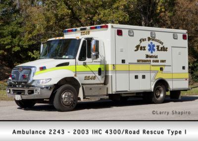 Fox Lake Fire Department Ambulance 2243