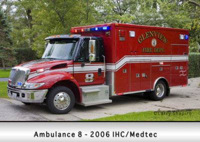 Glenview Fire Department Ambulance 8