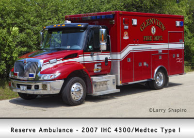 Glenview Fire Department Reserve Ambulance