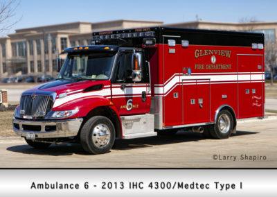 Glenview Fire Department Ambulance 6