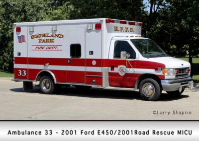 Highland Park Fire Department Ambulance 33