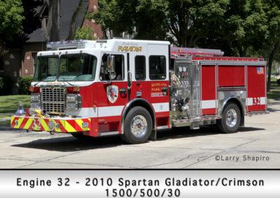 Highland Park Fire Department Engine 32