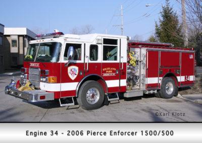 Highland Park Fire Department Engine 34