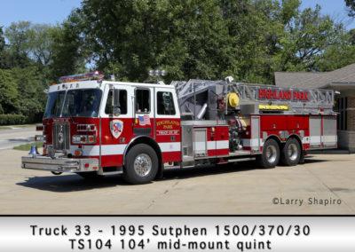 Highland Park Fire Department Truck 33