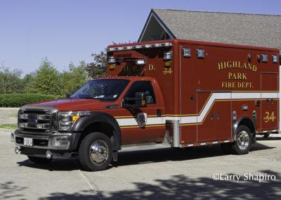 Highland Park Fire Department Ambulance 34