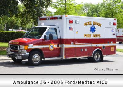 Park Ridge Fire Department Ambulance 36R - 2005 Ford E350/Medtec Type III