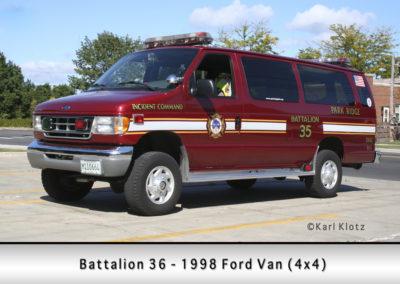 Park Ridge Fire Department Rescue 36 - 1998 Ford Van