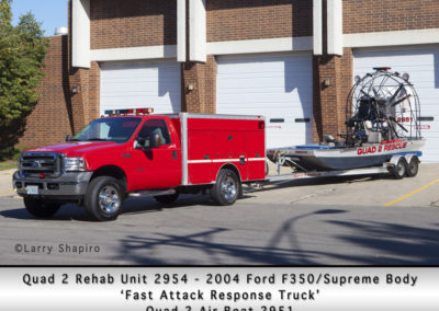 Antioch Fire Department Quad 2 Unit 2954 and Air Boat 2951
