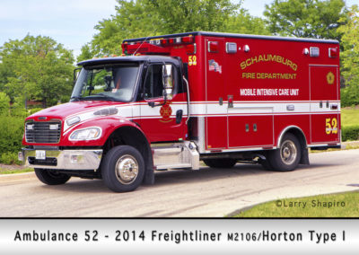 Schaumburg Fire Department Ambulance 52