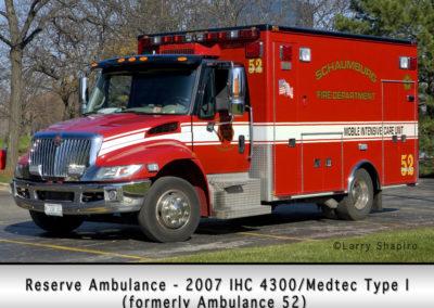 Schaumburg Fire Department Reserve Ambulance