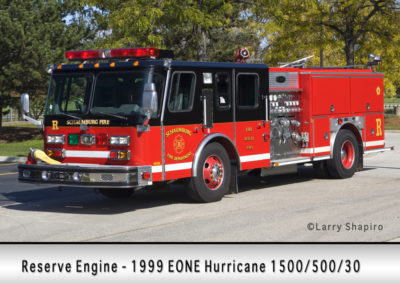 Schaumburg Fire Department Reserve Engine