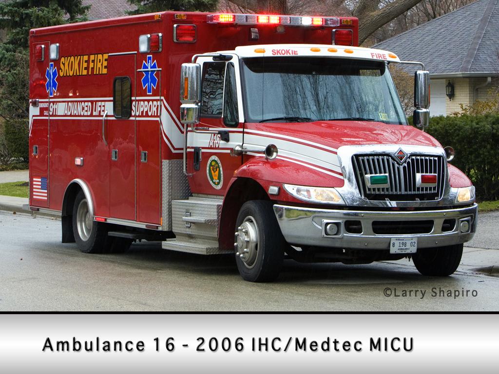 Skokie Fire Department Ambulance 16