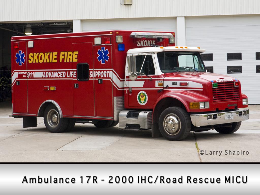 Skokie Fire Department Ambulance 17R