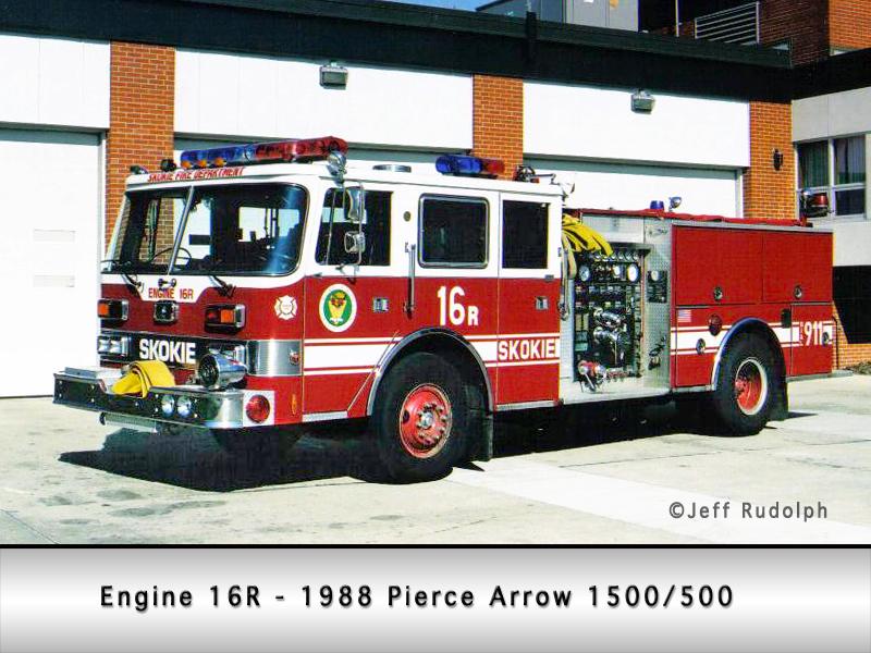 Skokie Fire Department Engine 16R