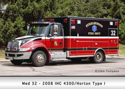 Streamwood Fire Department Medic 32