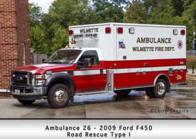 Wilmette Fire Department Ambulance 26