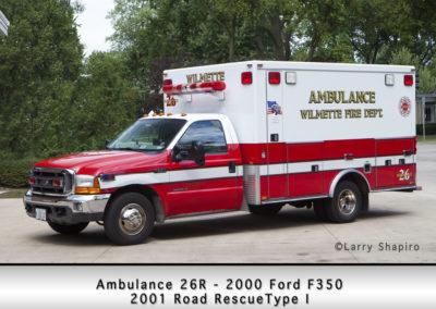 Wilmette Fire Department Ambulance 26R